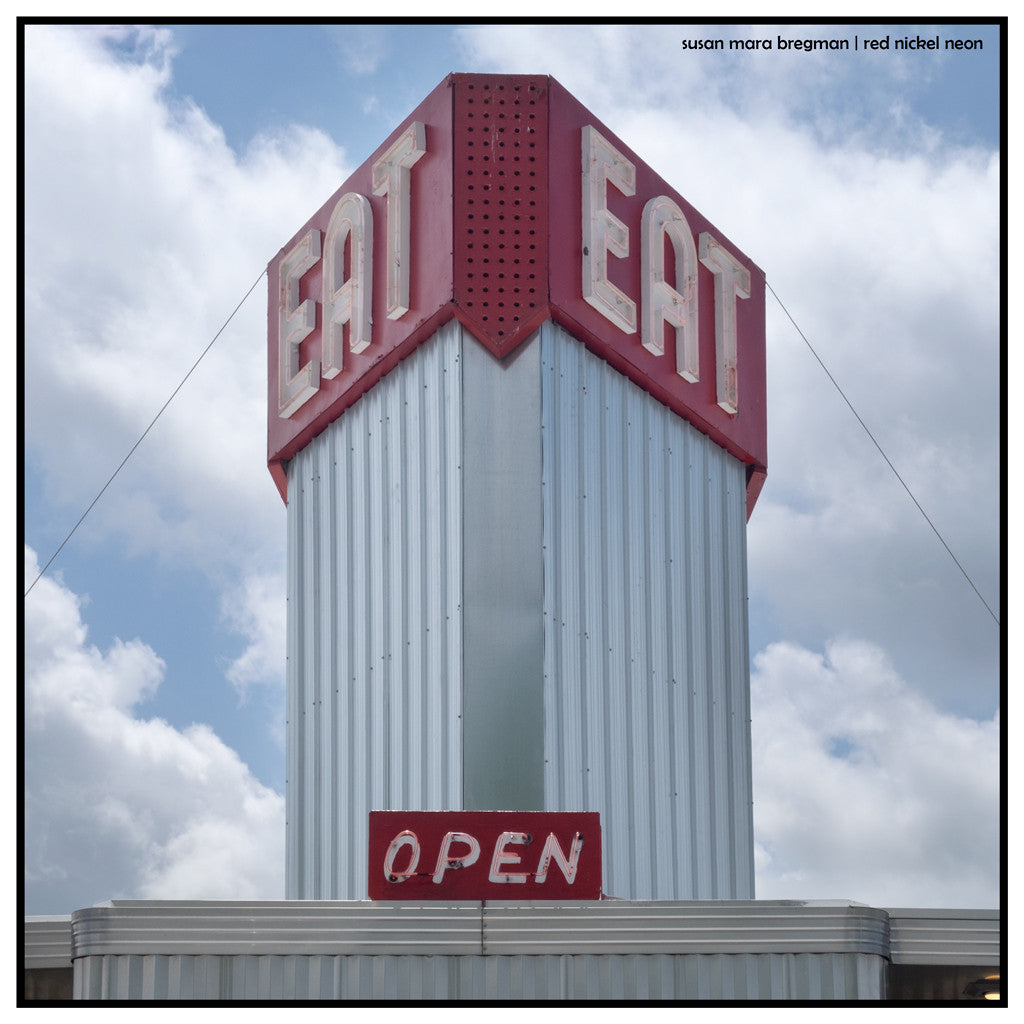 EAT Mid-Century Diner Sign Photograph
