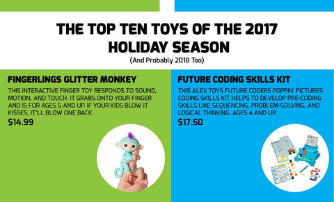 The Top Ten Toys of the 2017 Holiday Season (and probably 2018 too)
