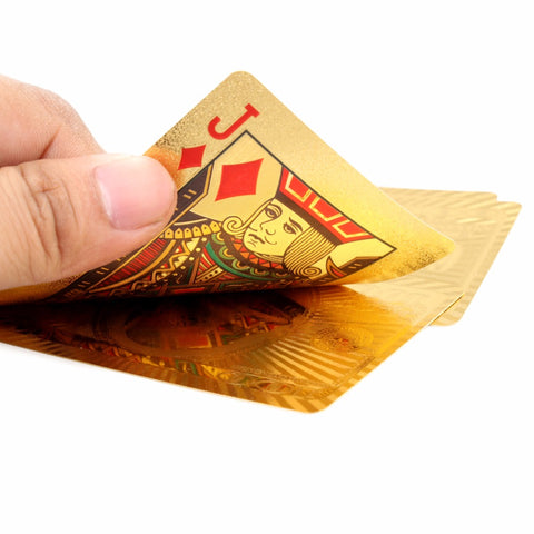 Affordable Gold Playing Cards - 24K Carat Foil Plated Cards