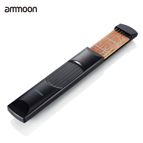ammoon Portable Pocket Acoustic Guitar Practice Tool Gadget Chord Trainer 6 String 6 Fret Model for Beginner Guitar Accessories