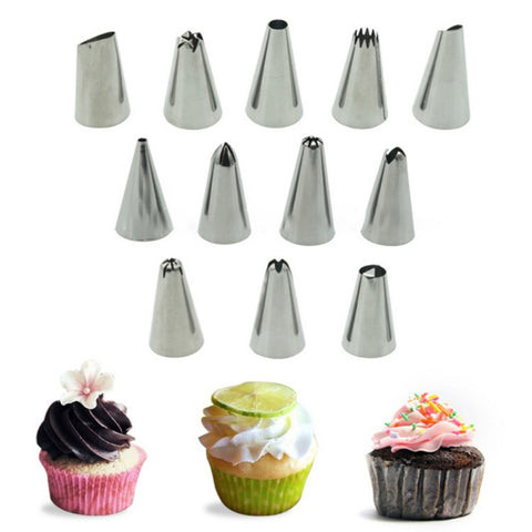 26-Piece Kitchen Baking Cake Tools: Flower Shape Icing Piping Nozzles Decorating Set