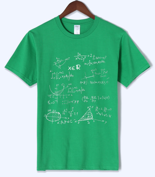 Science T Shirts Math Formulas Print for Men