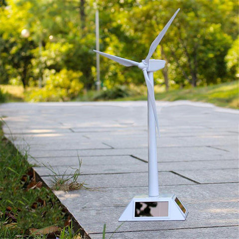 Desktop Model Solar Powered Windmill/Wind Turbine
