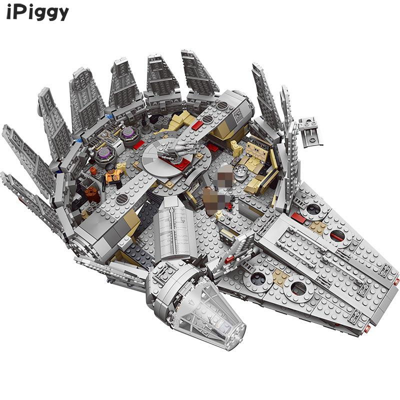 2018 New 1381pcs Factory Sale Price Millennium Falcon Figure Star Wars Model Building Blocks Toys Compatible LegoINGLYS for Kids