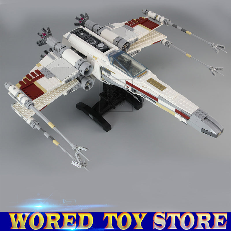 LEPIN 05039 Star Cool Model Wars 1586Pcs Red Five X Starfighter wing Building Blocks Bricks toys Compatible legoed 10240 gift