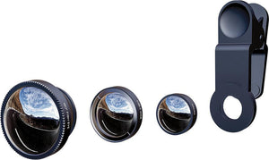 3 in 1 Wide Angle Macro Fisheye Phone Professional Lenses - Elegant Case