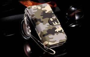 Camouflage Pattern Leather Cover For iPhone - Elegant Case