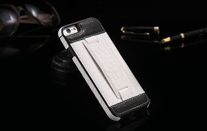 Vintage PU Leather + Hard PC Case Cover For Apple iPhone - Elegant Case