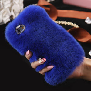 Luxury Diamond Rabbit Plush Cover Case For iPhone - Elegant Case
