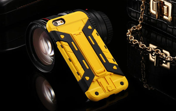 Heavy Duty Kickstand Back Cover for iPhone - Elegant Case