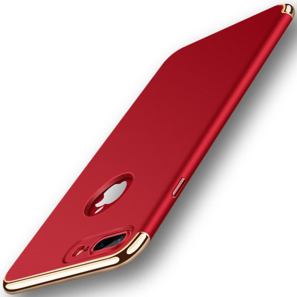 Shockproof Case for iPhone Reinforced With Metal Armor Frame - Elegant Case