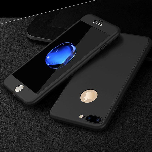 360° All Inclusive iPhone Shell + Free Hybrid Glass Protector - Elegant Case