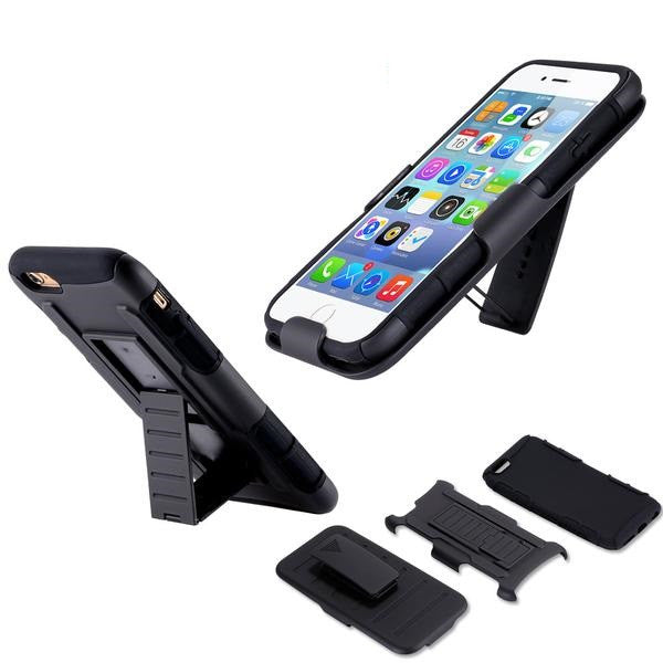 3 in 1 Military Armor Kickstand Cover Case For Apple iPhone - Elegant Case