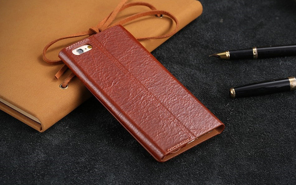 Real Genuine Flip Leather Stand Case For iPhone - Best iPhone Cases