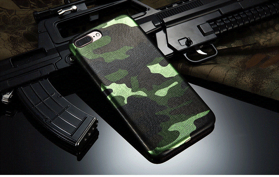Army Camo Shockproof Back Case for iPhone - Elegant Case