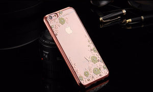 Luxury Flower Plating Case For Apple iPhone - Best iPhone Cases