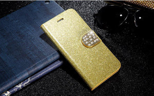 Luxury Glitter Flip Leather Case Cover For Apple iPhone - Best iPhone Cases