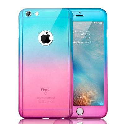 Luxury Gradient Case For iPhone Full Body Cover + Free Tempered Glass Screen Protector - Elegant Case