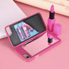 Makeup Mirror Flip Card Holder Hard PC Protective Back Cover for iPhone - Best iPhone Cases