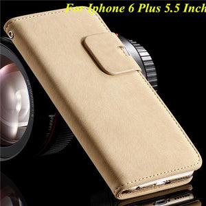 Leather Phone Case For Apple iPhone With Card Slots - Elegant Case