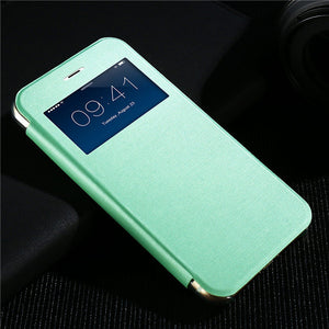 Elegant Smart Window View Leather Case - Best iPhone Cases