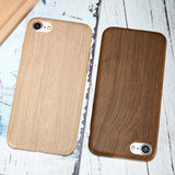 Wooden PU Leather Back Cover Case - Elegant Case