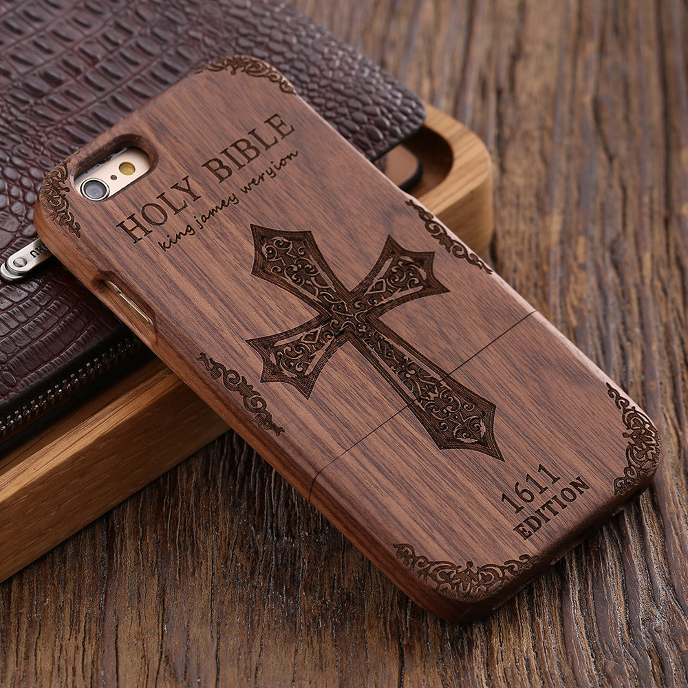 Wood Hard Case For Apple iPhone - Elegant Case
