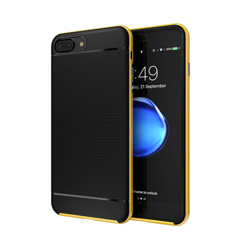 Hybrid Back Cover Case with Hard Metal Frame - Elegant Case
