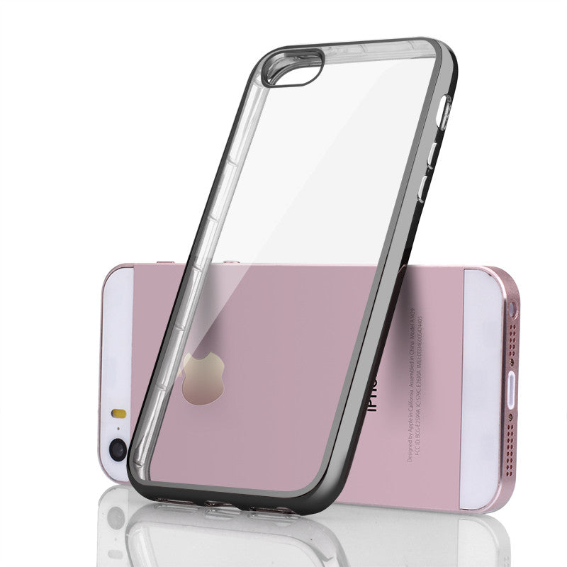 Transparent Soft Silicone Cover For iPhone - Elegant Case