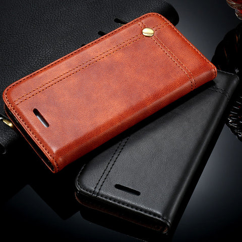 Flip Leather Case For iPhone - Elegant Case