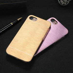 Aluminum Luxury Brush Metal Hard Case For iPhone - Elegant Case