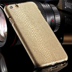 Gold Luxury Hard Plastic Case for iPhone - Elegant Case