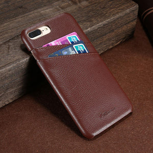 Genuine Leather Case With Card Slots For iPhone - Best iPhone Cases