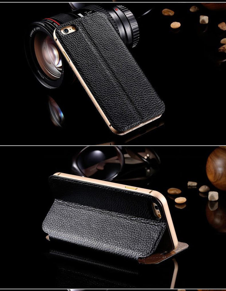 Genuine Leather Flip Case For Apple iPhone - Best iPhone Cases