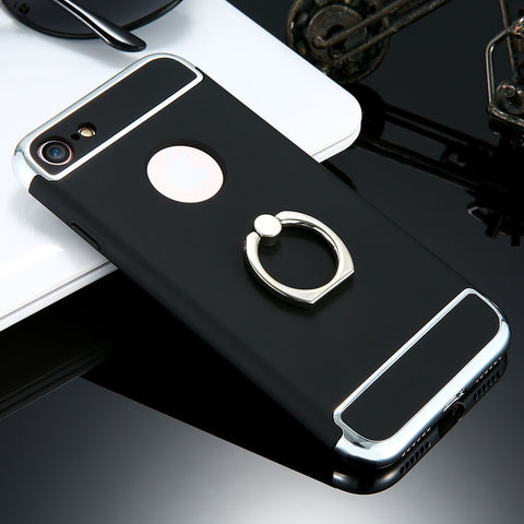 Beautiful Hybird Case Cover For iPhone With Ring Holder - Elegant Case