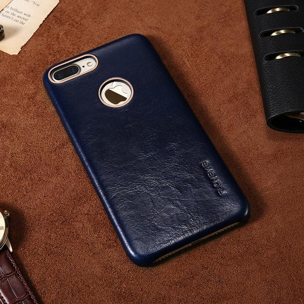 Luxury Leather Case Back Cover Shockproof Case For iPhone - Elegant Case