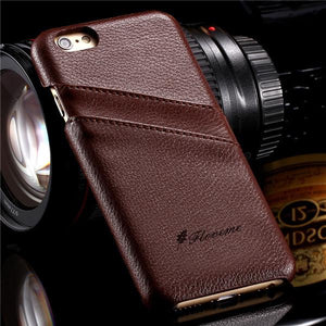 Genuine Leather Luxury Back Cover Stylish Case for iPhone - Best iPhone Cases
