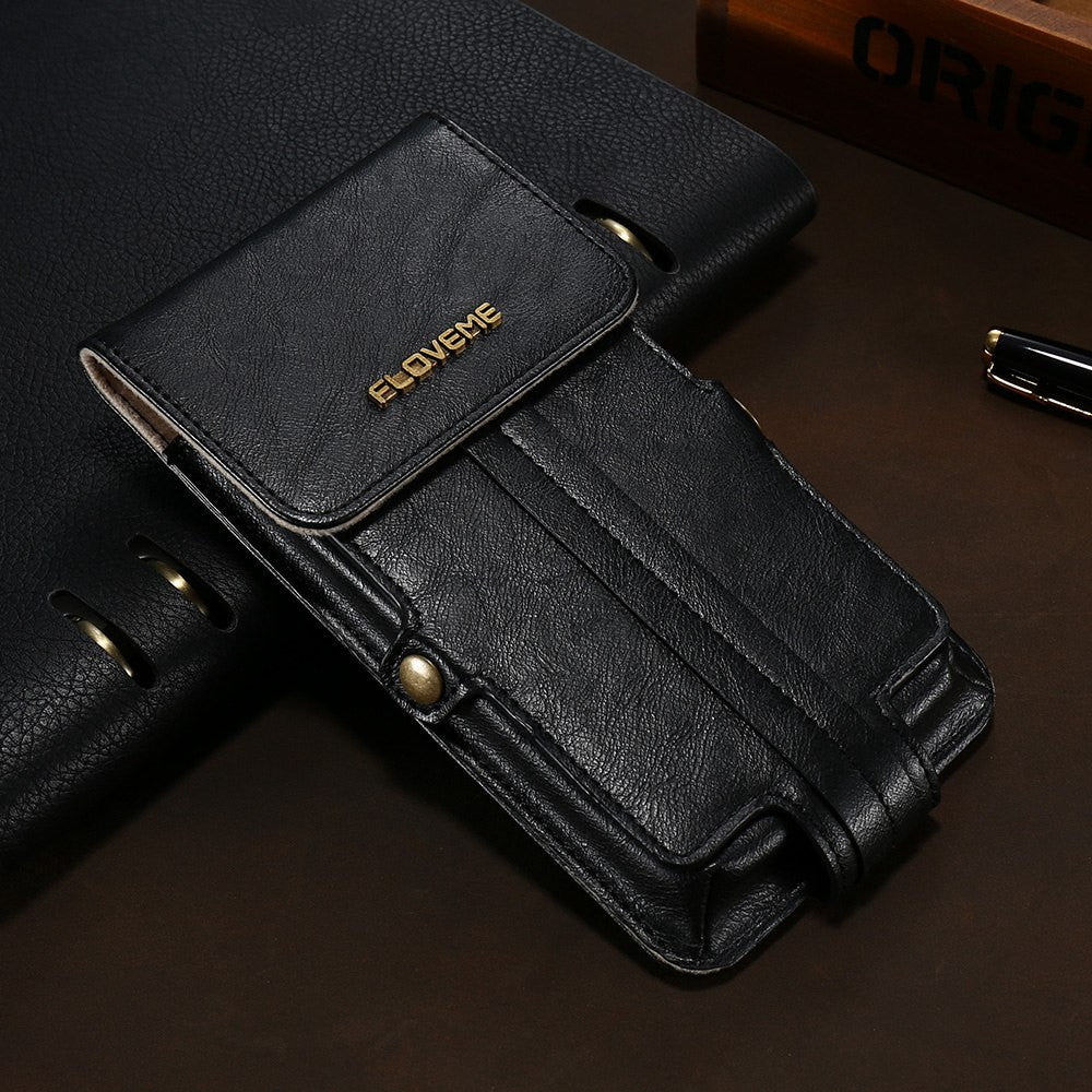 Universal PU Leather Pouch Wallet Phone Bag For iPhone - Elegant Case