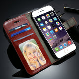 Vintage Flip Leather Case For iPhone Book Style Stand - Best iPhone Cases