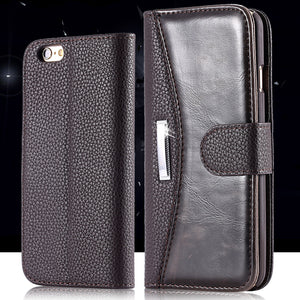 Luxury Vintage Wallet PU Leather Flip Case For Apple iPhone - Best iPhone Cases