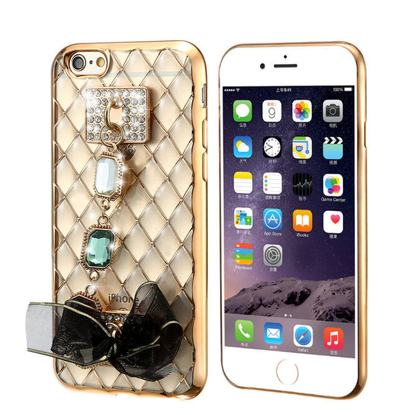 Rhinestone Silicone Case For iPhone - Elegant Case