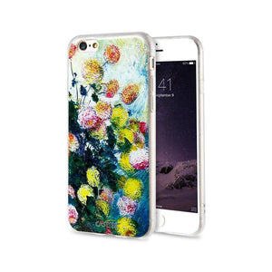 Flower Painted Case For iPhone Cover Art Oil Painting - Elegant Case
