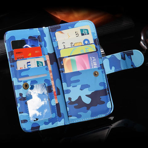 Flip Leather Wallet Case For Apple iPhone With Card Slot - Elegant Case