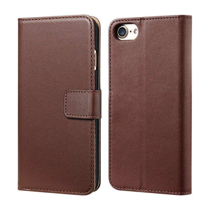 Vintage Genuine Leather Case For iPhone With Two Credit Card Holders - Best iPhone Cases
