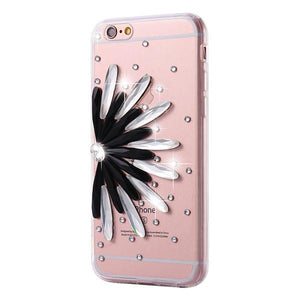 Diamond Flower Rhinestone Case For iPhone - Elegant Case