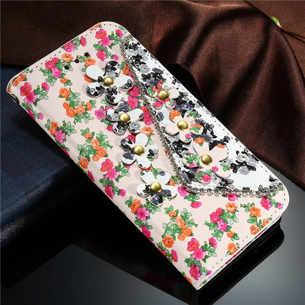 Luxury Flower Pattern Flip Leather Case For iPhone - Best iPhone Cases