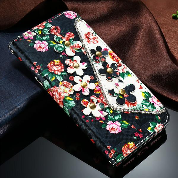 Luxury Flower Pattern Flip Leather Case For iPhone - Elegant Case