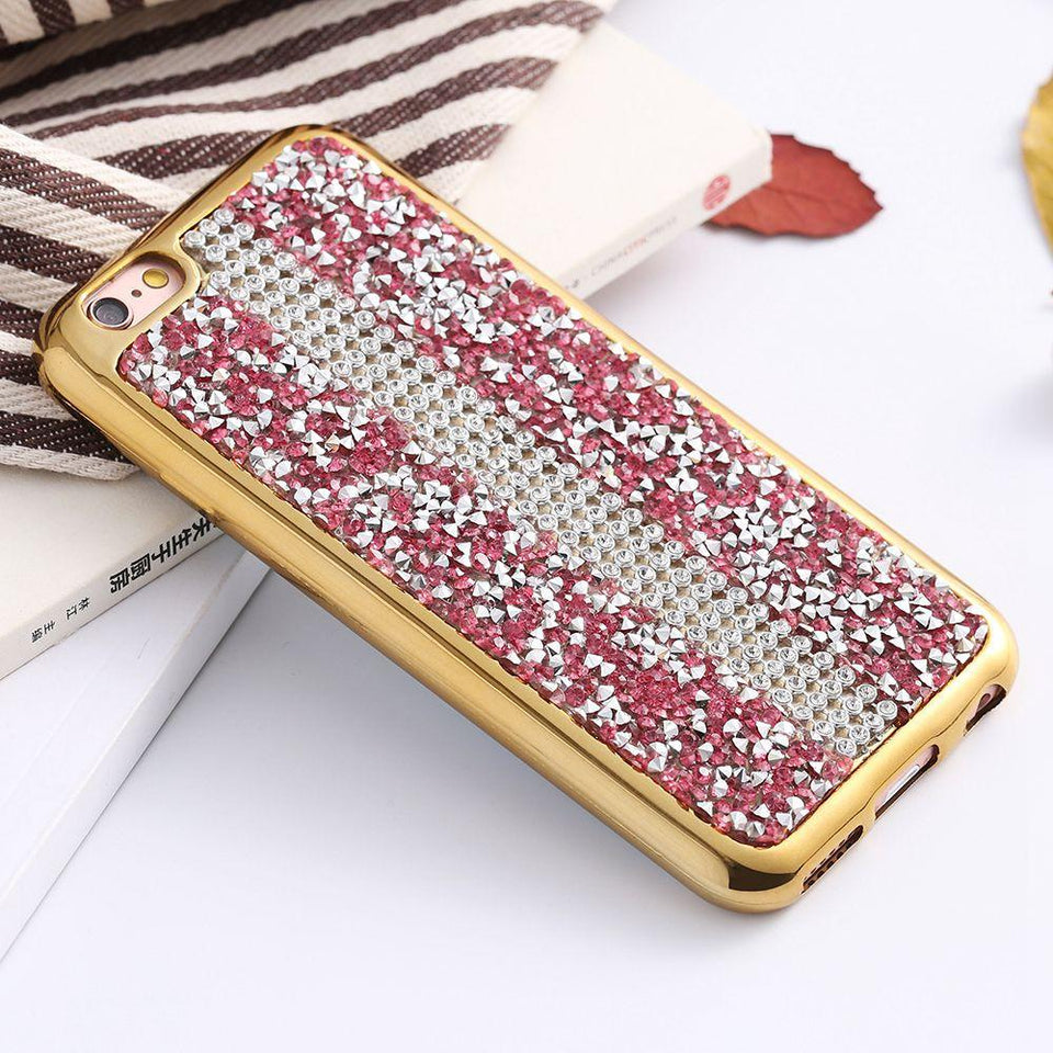 Glitter Rhinestone Case For Apple iPhone - Elegant Case