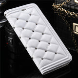 Luxury Makeup Mirror Flip Leather Case - Elegant Case