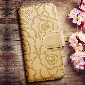 Deluxe Embossing Flower Flip Leather Case For iPhone - Best iPhone Cases